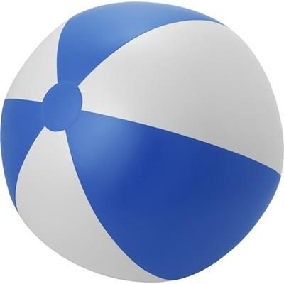 Picture of LARGE PVC BEACH BALL in Blue & White