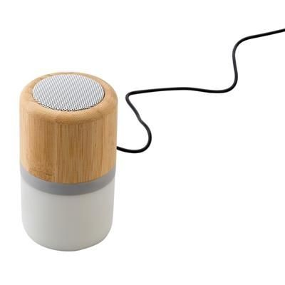 Picture of PLASTIC AND BAMBOO CORDLESS SPEAKER
