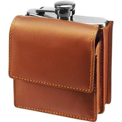 Picture of STAINLESS STEEL METAL HIP FLASK (175ML)
