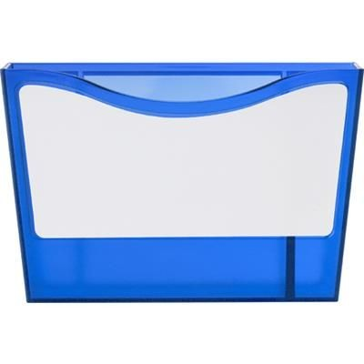 Picture of PLASTIC PEN HOLDER & WHITE BOARD in Blue includes Cleaning Stick, Supplied with Two Magnet on Back f