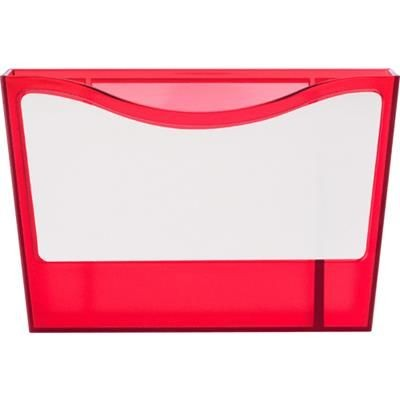 Picture of PLASTIC PEN HOLDER & WHITE BOARD in Red includes Cleaning Stick, Supplied with Two Magnet on Back fo
