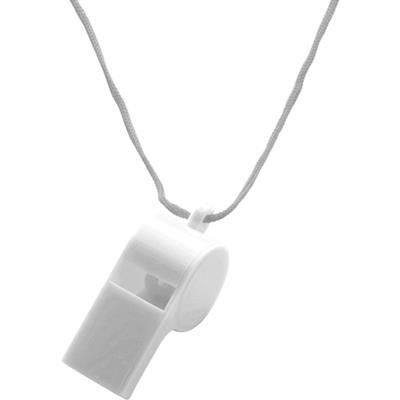 Picture of PLASTIC WHISTLE with Neck Cord in White