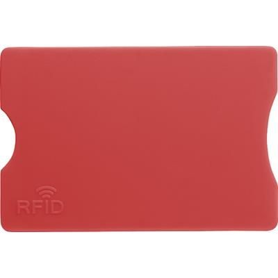 Picture of PLASTIC CARD HOLDER in Red