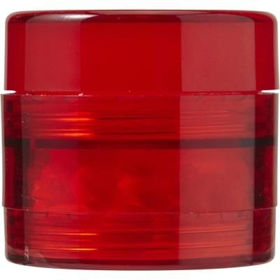 Picture of PLASTIC SCREW LID MINTS POT in Red