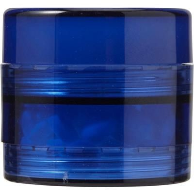 Picture of PLASTIC SCREW LID MINTS POT in Cobalt Blue