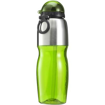 Picture of 800ML SPORTS DRINK BOTTLE in Translucent Green & Silver