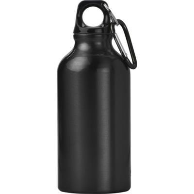 Picture of 400ML ALUMINIUM METAL SPORTS DRINK BOTTLE in Black