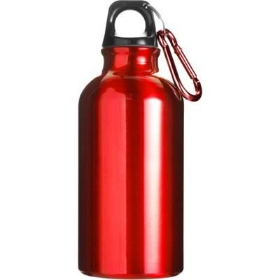Picture of 400ML ALUMINIUM METAL SPORTS DRINK BOTTLE in Red