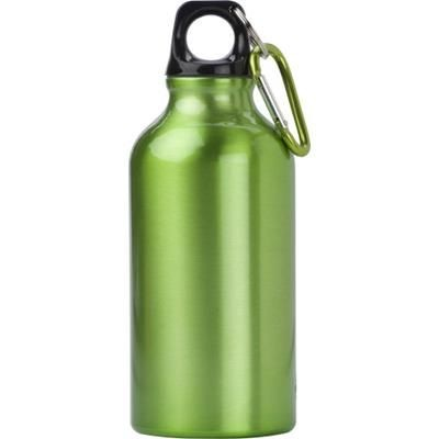 Picture of 400ML ALUMINIUM METAL SPORTS DRINK BOTTLE in Pale Green