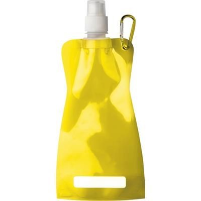 Picture of FOLDABLE TRANSUCENT PLASTIC WATER BOTTLE with Belt Clip in Yellow