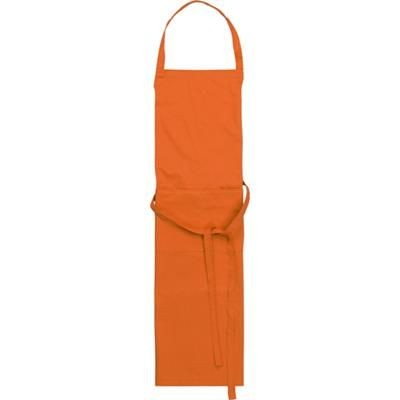Picture of TETRON COTTON APRON in Orange