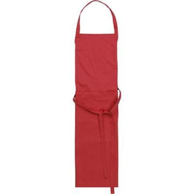 Picture of TETRON COTTON APRON in Red