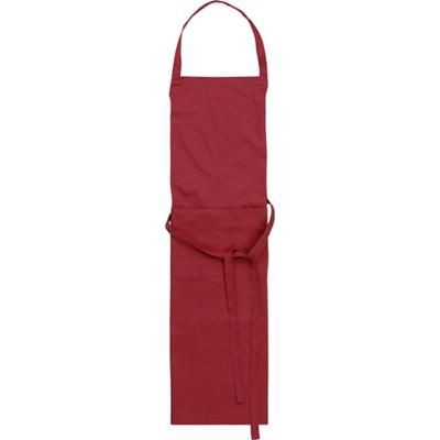 Picture of TETRON COTTON APRON in Burgundy