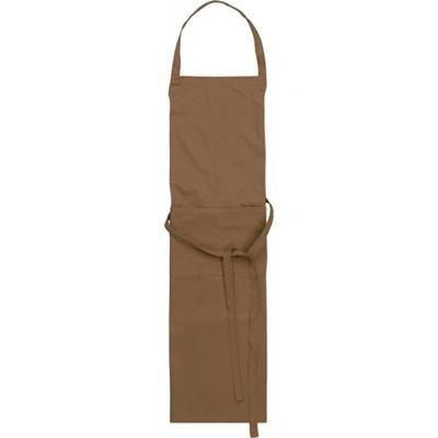 Picture of TETRON COTTON APRON in Brown