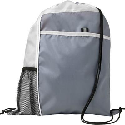 Picture of DRAWSTRING BACKPACK RUCKSACK in White