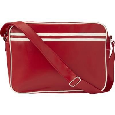 Picture of PVC MESSENGER BAG in Red