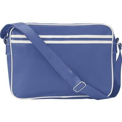 Picture of PVC MESSENGER BAG in Cobalt Blue