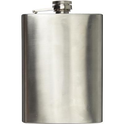 Picture of STAINLESS STEEL METAL CURVE SHAPE HIP FLASK