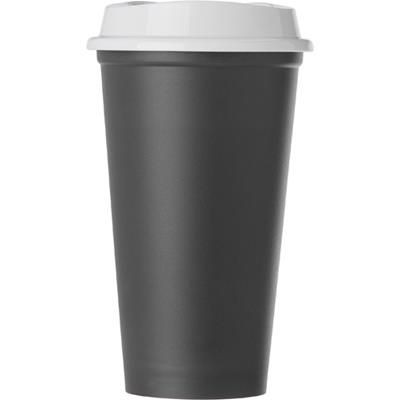 Picture of POLYPROPYLENE 520ML CAPACITY CUP with Lid in Black