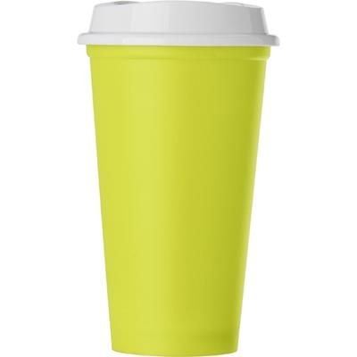 Picture of POLYPROPYLENE 520ML CAPACITY CUP with Lid in Pale Green