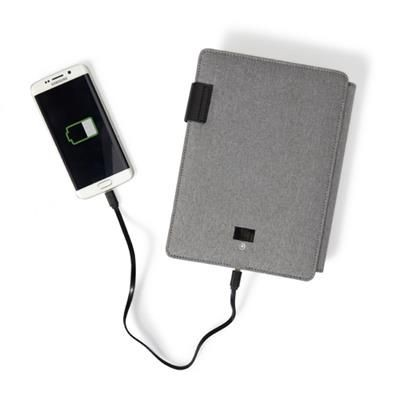 Picture of POLYESTER DOCUMENT FOLDER A5 with Integrated 4000mah Power Bank