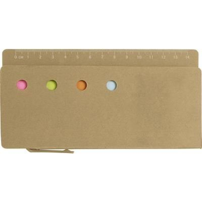 Picture of CARDBOARD CARD HOLDER with Ruler 13cm