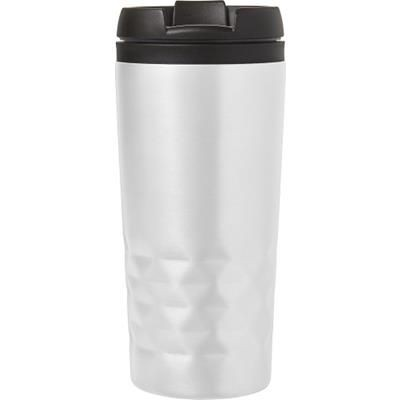 Picture of STAINLESS STEEL METAL TRAVEL MUG in White