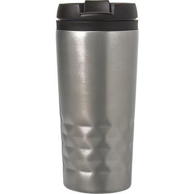 Picture of STAINLESS STEEL METAL TRAVEL MUG in Silver