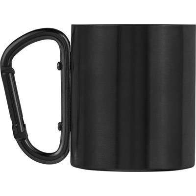 Picture of STAINLESS STEEL METAL DOUBLE WALLED TRAVEL MUG in Black