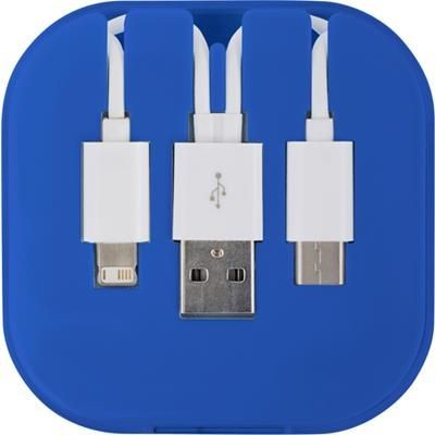 Picture of USB CHARGER CABLE SET in Cobalt