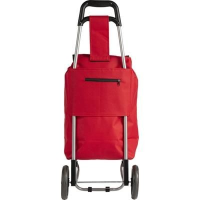 Picture of POLYESTER 600D SHOPPER TOTE BAG TROLLEY in Red