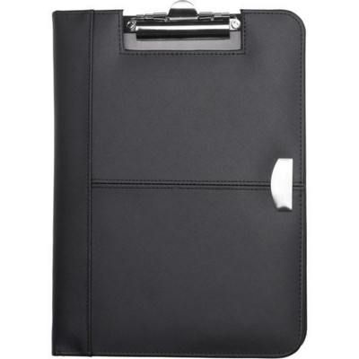 Picture of BONDED LEATHER CONFERENCE FOLDER in Black