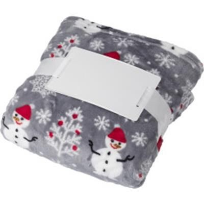 Picture of FLANNEL FLEECE SNOWMEN PICNIC BLANKET 260 GR-M2