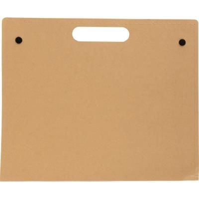 Picture of CARDBOARD CARD WRITING FOLDER in Brown