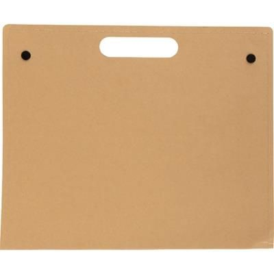 Picture of CARDBOARD CARD WRITING FOLDER in Black