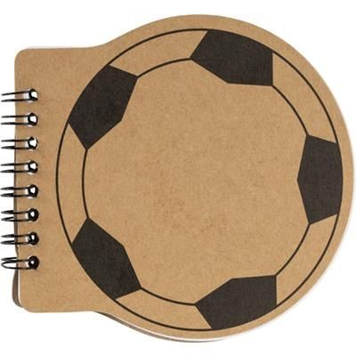 Picture of FOOTBALL SHAPE NOTE BOOK