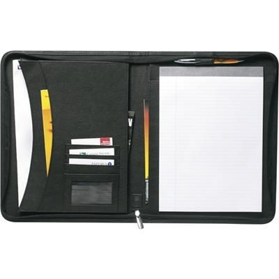 Picture of LEATHER CONFERENCE FOLDER in Black