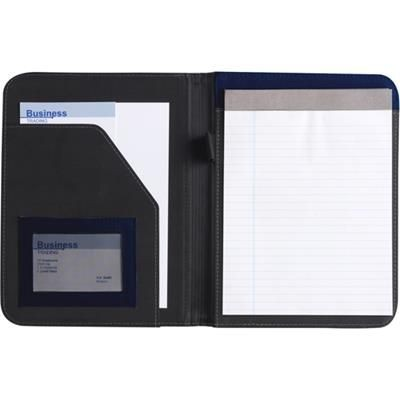 Picture of A5 CONFERENCE FOLDER in Blue & Black