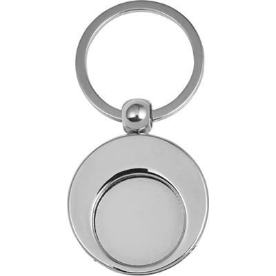 Picture of METAL KEY HOLDER KEYRING with Shopping Cart Coin