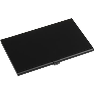 Picture of ALUMINIUM METAL POCKET BUSINESS CARD HOLDER in Black