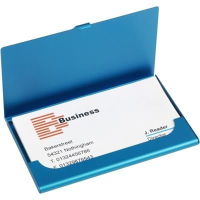 Picture of ALUMINIUM METAL POCKET BUSINESS CARD HOLDER in Light Blue