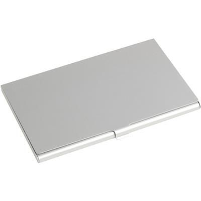 Picture of ALUMINIUM METAL POCKET BUSINESS CARD HOLDER in Silver