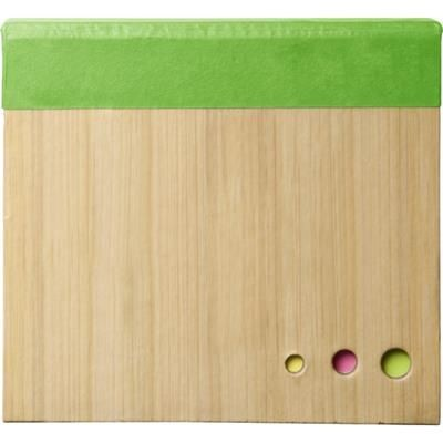 Picture of NOTE CUBE BLOCK with Sticky Notes in Pale Green