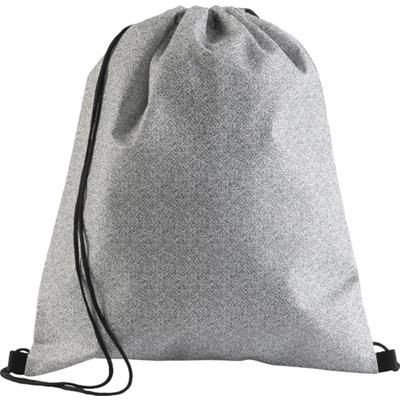 Picture of NONWOVEN DRAWSTRING BACKPACK RUCKSACK in Black