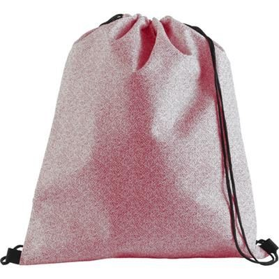 Picture of NONWOVEN DRAWSTRING BACKPACK RUCKSACK in Red