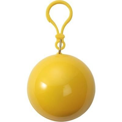 Picture of PVC RAIN PONCHO in Plastic Ball in Yellow