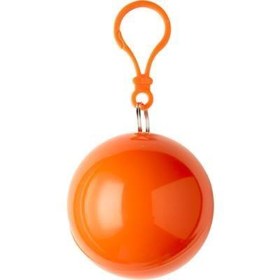 Picture of PVC RAIN PONCHO in Plastic Ball in Orange
