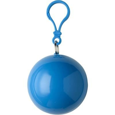 Picture of PVC RAIN PONCHO in Plastic Ball in Pale Blue