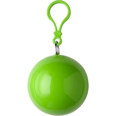 Picture of PVC RAIN PONCHO in Plastic Ball in Light Green