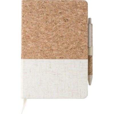 Picture of CORK AND LINEN NOTE BOOK (APPROX